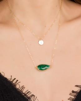Large Emerald Necklace • Gemstone Necklace