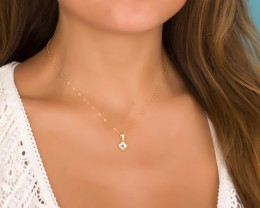 Gold Evil Eye Necklace - Clover Necklace