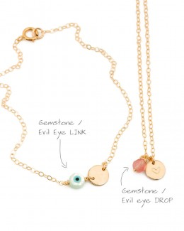 Personalize your bracelet or your necklace with an evil eye • Add an evil eye on your necklace