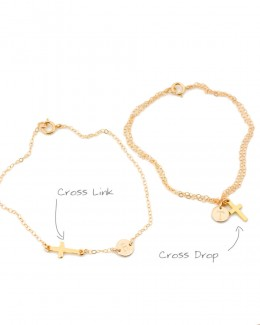 Personalize your necklace or bracelet by adding a cross or a clover or an infinity charm