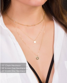 Monogram Initial Necklace • Initial Disc Necklace