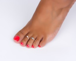 Sterling Silver Toe Ring - Stackable Ring