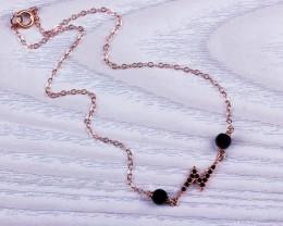 Rose Gold Anklet / Lightning Bolt Jewelry