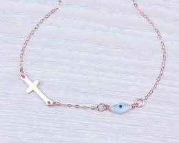 Evil Eye Necklace / Sideways Cross Necklace | Griffins