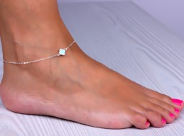 Simple Anklet / Wedding Anklet Jewelry | Mimas