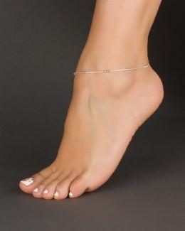 Silver Ankle Bracelet • Chain Anklet