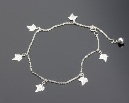 Silver Ankle Bracelet - Anklet for Women