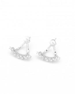 Silver Ear Jacket • Jacket Earrings