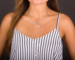Silver Evil Eye Necklace - Charm Necklace