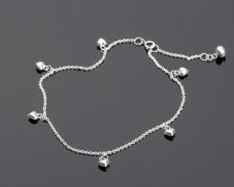 925 Silver Anklet - Heart Anklet