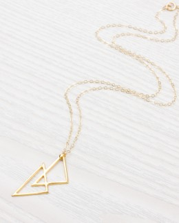 Gold Geometric Necklace • Simple Everyday Pendant