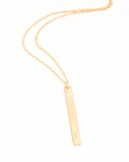 Personalized Bar Necklace •  Vertical Bar Pendant