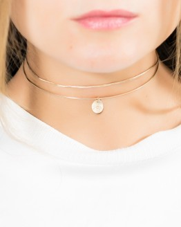 Initial Choker Necklace